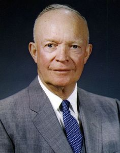 Eisenhower: Eisenhower was a general in WWII. He was elected president and became the 34th president. He won in a huge landslide of electoral votes.