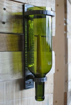 DIY Wine Bottle Wall Sconce | Wine Bottle Sconce Handforged Candle Holder by PhoenixHandcraft, $72 ...