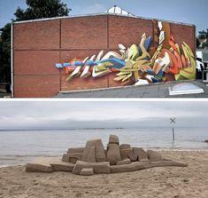 3d graffiti wall sand