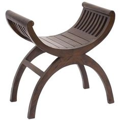 Slatted Single Seat Kartini Stool from our Rustic Teak range makes and interesting piece for either bedroom or lounge room.