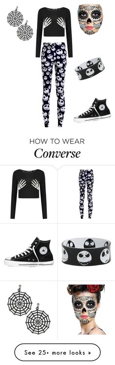 """""""Happy Halloween"""" by the-muffin-mistress on Polyvore featuring Converse"""