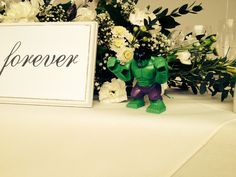 Avengers themed wedding - Lego figurines for the tables