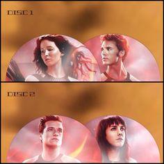 Catching Fire Movie CD!!! Peeta / Katniss / Finnick / Johanna