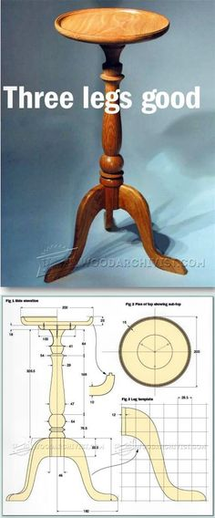 Candle Stand Table Plans - Furniture Plans and Projects | http://WoodArchivist.com