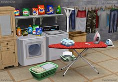 Laundry Decor Set [The Sims 3]