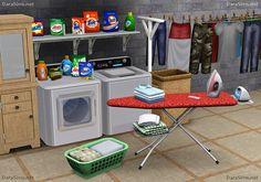 Laundry Decor Set [The Sims 3]
