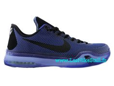 8ebf72db3555 Officiel Nike Kobe 10 X Chaussures Nike BasketBall Pas Cher Pour Homme  Noir Violet 742549-ID12
