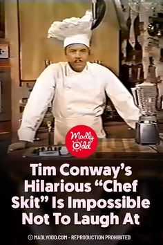 Tim Conway's chef skit from his very own 1970 variety show is a wonderful reminder of just how unique his clean comedy once was. Well before The Carol Burnett Show, Tim appears here as a hapless chef in a low budget cooking show that just can't seem to demonstrate how to use a blender properly. #TimConway #70s #TVShows Laugh Laugh, Laugh Out Loud, Carroll Burnett, Foster Brooks, Mark Lowry, Harvey Korman, Comedian Videos, Famous Comedians