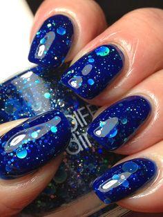 OPI Royal blue matte manicure OPI Blue My Mind by LoveThoseNails, $13.99