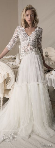 Wedding Dresses by Lihi Hod Fall 2018 Couture Bridal Collection - Danielle #WeddingDress
