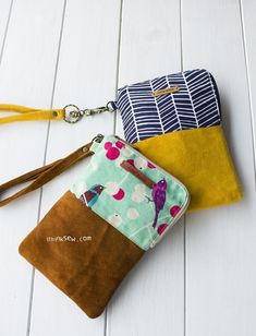 675 Jamie Phone & Wallet Pouch PDF Pattern-ithinksew.com