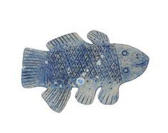 お魚プレート(ブルー)