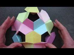 origami - kusudama - little turtle - tutorial - dutchpapergirl - YouTube