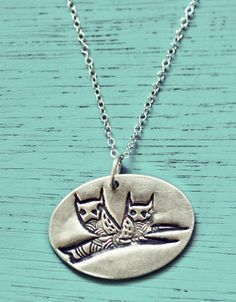 Silver Owl Branch Necklace