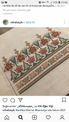 Hand Embroidery Videos, Folk Embroidery, Cross Stitch Embroidery, Cross Stitch Borders, Cross Stitch Patterns, Palestinian Embroidery, Contemporary Embroidery, Bargello, Blackwork