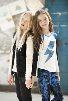 Tween fashion - Tahlia by Minihaha Colour Blocked Long Sleeve Tee