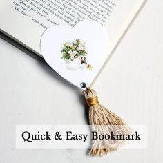 Quick and Easy Bookmark - The Graphics Fairy-tutorial for tassel