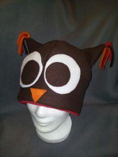 Owl hat;  Eulenmütze #regenbogenkriegerin www.facebook.com/ regenbogenkriegerin