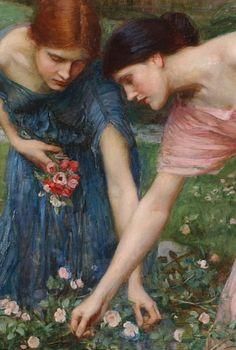 John William Waterhouse - Gather ye rosebuds while...