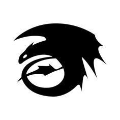 Vinyl Decal - Free Shipping: Toothless from How to Train Your Dragon