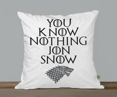 You Know Nothing Jon Snow Game Of Thrones Pillow Case - One Side Or Two Side Printing