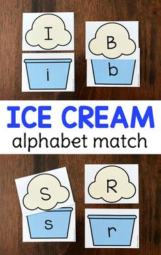 FREE ice cream alphabet match for your summer theme to practice uppercase and lowercase letters with this printable busy bag. Perfect independent literacy center or great to use during circle time as a whole group activity. Prep once and play over and over again! Circle Time Activities, Phonics Activities, Alphabet Activities, Activities For Kids, Leadership Activities, Group Activities, Kindergarten Phonics, Cooperative Learning, Toddler Learning