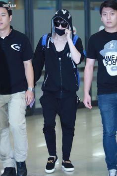 140825- EXO Lay (Zhang Yixing), Incheon Airport to Pudong Airport #exom #men #fashion #style