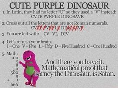 Mathematical proof that Barney is Satan