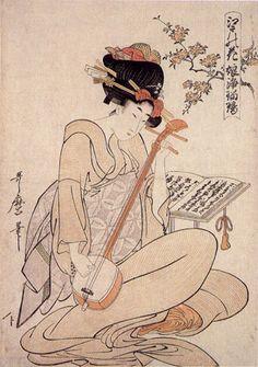 江戸の花 娘浄瑠璃 えどのはな むすめじょうるり Edo no hana musume jyoruri 喜多川 歌麿 きたがわ うたまろ Kitagawa Utamaro