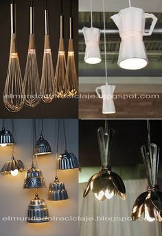 Rapturous Old Lamp Shades Ideas « Decor Diy Best Outside Lighting Ideas, Lamp Makeover, Garage Lighting, Bakery Design, Interior Design Living Room, Rustic Decor, Light Fixtures, Decoration, Diy Home Decor