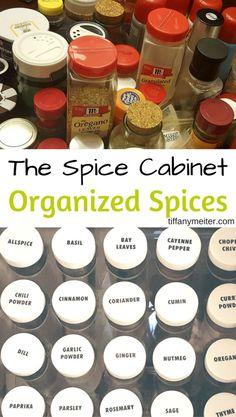 Organize Your Spices, Kitchen Organization, Spice…