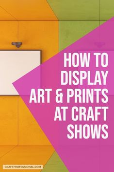 How to display paintings at an art show. Portable art display ideas for large canvases and smaller prints, and craft booth design best practices. Selling Crafts Online, Craft Online, Display Ideas, Booth Ideas, Craft Show Booths, Portable Display, Large Scale Art, Hanging Canvas, Craft Markets