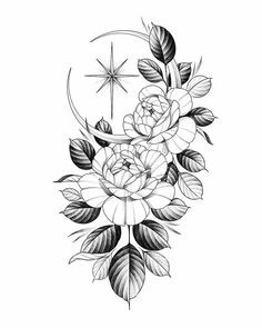 Tattoo Sleeve Designs, Flower Tattoo Designs, Tattoo Designs For Women, Sleeve Tattoos, Tattoo Floral, Rose Tattoos, Black Tattoos, Hand Tattoos, Tatoos
