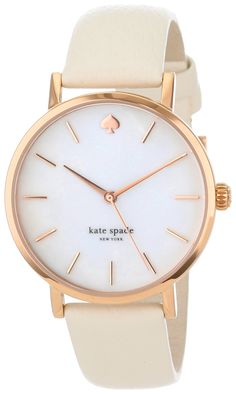Kate Spade New York Tiny Metro Bow Leather Strap Watch