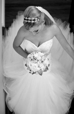 Real Bride Jessica www.devarga.com.au  wedding   gown   dress   beaded   glamour   couture   bespoke   beautiful   fashion   Australian Designer   bridal   boutique   Elizabeth de Varga Exclusive Fashions   flowers   hair   accessories   veil