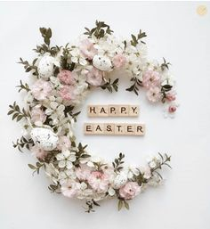 """🏺 Our """"Featured Artist"""" of the Day ! 🎨 Please take time to visit the gallery of this… Ostern Wallpaper, Happy Easter Quotes, Month Flowers, Easter Greeting Cards, Idee Diy, Holidays And Events, Flower Art, Easter Eggs, Beautiful Flowers"""