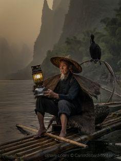 Pescador tradicional Chinês Foto de CarlosRibasMonteiro | Olhares - Fotografia Online