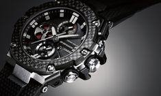 G-Shock G-STEEL GST-B100 with Carbon bezel - custom modification
