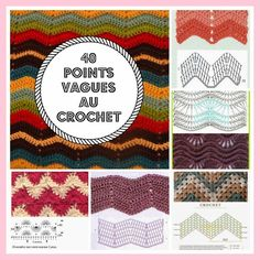 MES FAVORIS TRICOT-CROCHET: 40 points vagues au crochet