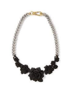 Marc by Marc Jacobs Rubberized Jerrie Rose Statement Necklace   Piperlime