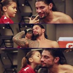 ❤️Cutest mixed baby Joelle with daddy Roman Reigns❤️