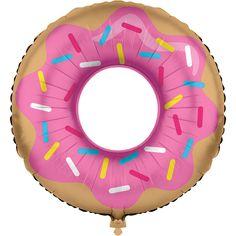 Ballon géant  donuts party (76 cm)  à plat ou gonflé à l'hélium, comme on veut ! - Annikids
