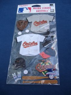 EK Success Baltimore ORIOLES Jolee's Boutique STICKERS New MLBJB020