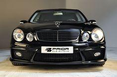 Black Mercedes Benz E Class W211 Full Body kit, front bumper, E55 E63 AMG