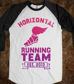 Horizontal Running Team (Baseball Shirt) - Movie Madness - Skreened T-shirts, Organic Shirts, Hoodies, Kids Tees, Baby One-Pieces and Tote Bags