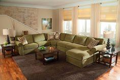 Large Scale U Shaped Sectional Sofa Set                              …