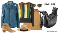 Weekend Wear! Clutch It and Go! www.clutchbags.com http://www.clutchbags.com/cross-body.html #crossbody #madeinusa #travelbag #clutchbag #keepitclutch #nyc Farfetch.com DEREK LAM 10 CROSBY  suede mini skirt I'M ISOLA MARRAS  striped jumper MOSCHINO  distressed denim shirt TOD'S  criss cross strap boots DSQUARED2  hatband fedora RETROSUPERFUTURE  'Panamá' sunglasses