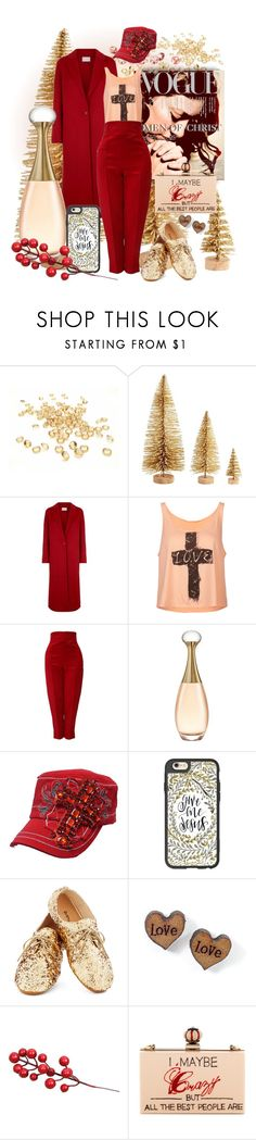 """""""Covered by the Blood of Jesus"""" by spicedblossom ❤ liked on Polyvore featuring Sandro, Full Tilt, Versace, Christian Dior, Casetify and Cecilia Ma"""