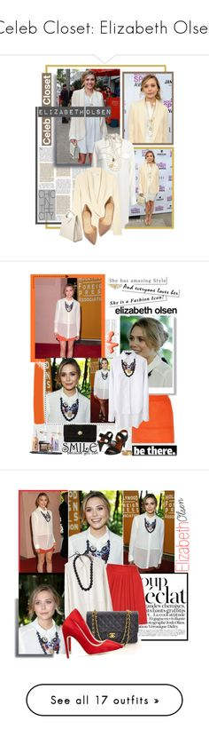 """""""Celeb Closet: Elizabeth Olsen"""" by polyvore-editorial ❤ liked on Polyvore featuring Olsen, Chloé, Reiss, Christian Louboutin, Kenneth Jay Lane, Mulberry, Alexander McQueen, Valextra, dresses and shirts"""