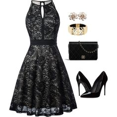 A fashion look from March 2018 featuring sleeveless lace dress,  heart-shaped jewelry e stacked bangles. Browse and shop related looks. a38fc683b932